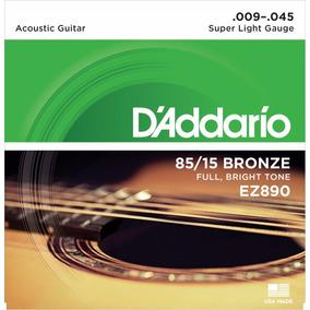 Cuerdas Guitarra Acústica Daddario Ez890 9-45 Confirma Exi *