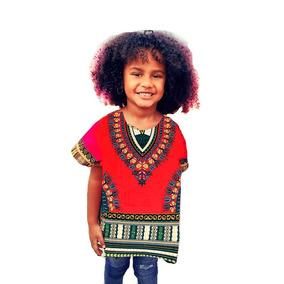 Vestido Bata Etnico Africano Infantil Dashhiki Criança