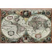 Rompecabezas 1000 Piezas Mapa  Vintage