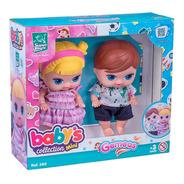 Boneca Babys Collection Gemeos - Super Toys 380