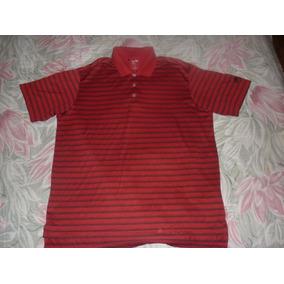 L Chomba Golf adidas Climalite Rojo Rayada Art 81697