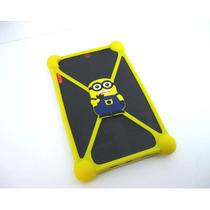 Capa Bumper Minions Para Tablet 7 A 8 Polegadas - Universal