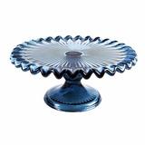 Prato Suporte Para Bolos Doces E Brigadeiros 17,5cm Azul