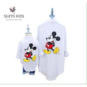Dúo Camisas A Cuadros Mamá E Hijo, Mickey