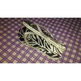 Chinelo Personalizado Customizado Com Strass Zebra Tigresa