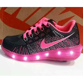 Zapatillas Con Luces Led Recargables Y Rueditas