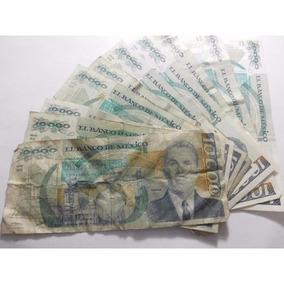 Un Billete 10,000 Pesos Lazaro Cardenas Usado