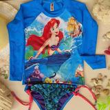 Traje De Baño Niñas, Niños Protección Uv Camisa Surf Manga