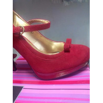 Hermoso Tacon Rojo Elegante Selfish Talla 38