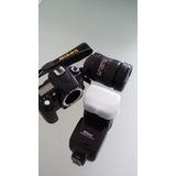 Camara Nikon D90 12.3 Mp Lente18-200 Nikon Flash Sb 700nikon
