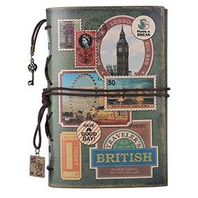 Cuaderno De Cuero, Maleden De Espiral Cuaderno Viajero De Pl
