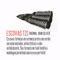 Kit 3 Escovas Tis(thermal Ion Silver 25,33,43) Boaz Hair