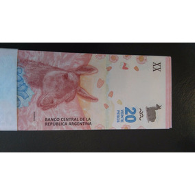 Fajo Billetes 20 Pesos Nuevo Diseño Guanaco