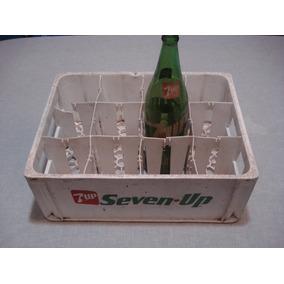 Cajón Seven Up Antiguo + 1 Botella