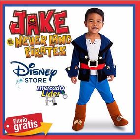 Disfraz Jake El Pirata Disney Original Talla 2, 3, 4, 5-6
