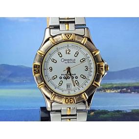 bfbee4345f0 Relógio Caravelle Bulova 45b19 Cinco Estrelas Com Data.