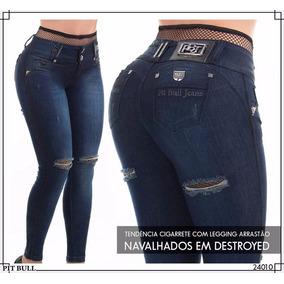 Calça Pit Bull Pitbull Jeans Com Bojo E Legging Arrastão!