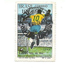 Selos Antigos Original De 1969 De 1000 Gols De Pele Raridade