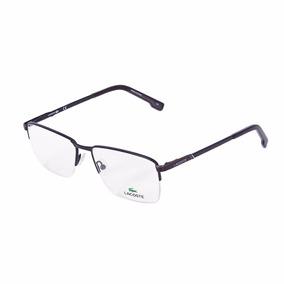 680322e11 Armacao Oculos Masculino Lacoste - Óculos Preto no Mercado Livre Brasil