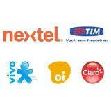 Recarga Celular Crédito Online Oi Claro Tim Nextel R$ 50