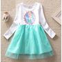 Vestido Tutu Frozen Princesa - Stock Tallas De 2 A 5 Años