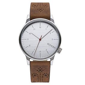 Reloj Komono Winston Brougue Acero Piel Unisex Kom-w2013