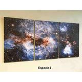 Cuadros Tríptico Imágenes Del Espacio S (total 60x28 Cm)