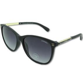 fd724f01dfc8a Óculos De Sol Chanel Proteção Uv400 Feminino Preto Luxo