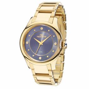 Relógio Technos Feminino Swarovski Dourado 2035mfr/4a 5 Atm
