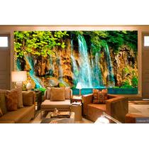 Papel De Parede 3d Cachoeiras Alta Definição - Venda Por M²