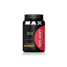 100% Whey Protein - Max Titanium 900gr Pote - Promoção