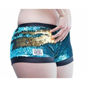 Derby Kiss Turquoise And Gold Sequin Color Changing Small/m