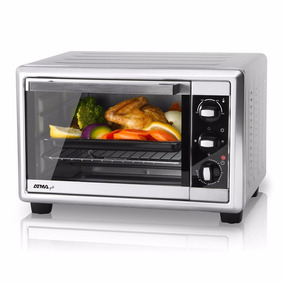 Horno Grill Atma 1200 W 20 Lts Timer Termostato Gris Hg 2010