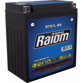Bateria Raiom Rtx7l-bs - Cmx 250 / Nx 250 / Cb 300
