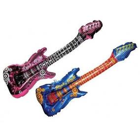 10 Guitarras Inflables Fiesta Batucada Dj Boda Xv Globo