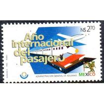 Timbre Postal Año Internacional Del Pasajero Mexico 1995