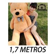 Urso De Pelúcia Gigante 1,7 Metros + Enchimento Frete Grátis