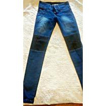 Pantalon Con Parches Tiro Medio