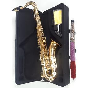 Saxofone Tenor Laqueado Bb Custom Sax Sib Com Case !