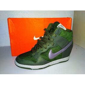 Tenis Bota Nike Dunk Sky Hi 528899302 Verde 25mx Evio Gratis