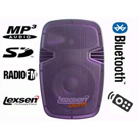 Parlante Activo Lexsen Cross Lp15a 250w Bluetooth, Fm Y Mp3