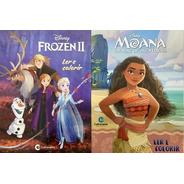 Ler E Colorir Disney - Frozen E Moana