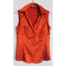 Zara, Blusa Talla M, Naranja. Envío Gratis