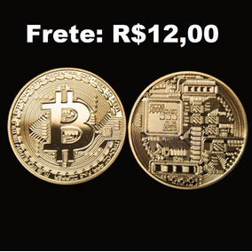 Moeda Fisica Bitcoin Alto Relevo Colecionador ( Frete 12,00)