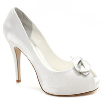 Sapato De Noiva Laura Porto Peep Toe Mh9513 | Zariff