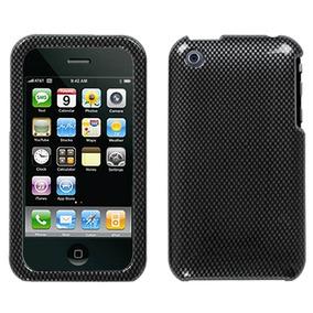 Protector Funda Iphone Apple 3g Negro Carbon