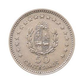 Moeda Antiga 50 Centésimos Uruguaios. Ano 1960.