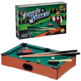 Mini Bilhar (51x31x10) Sinuca Snooker Infantil Maior Mesa