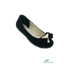 Zapato Escolar Para Niña Nobuck Negro Marca Fraga