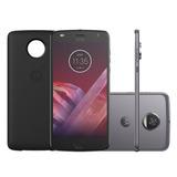 Smartphone Motorola Moto Z2 Play Power Edition Platinum Dua